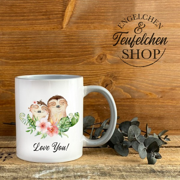 Tasse - Faultiere - Love you!