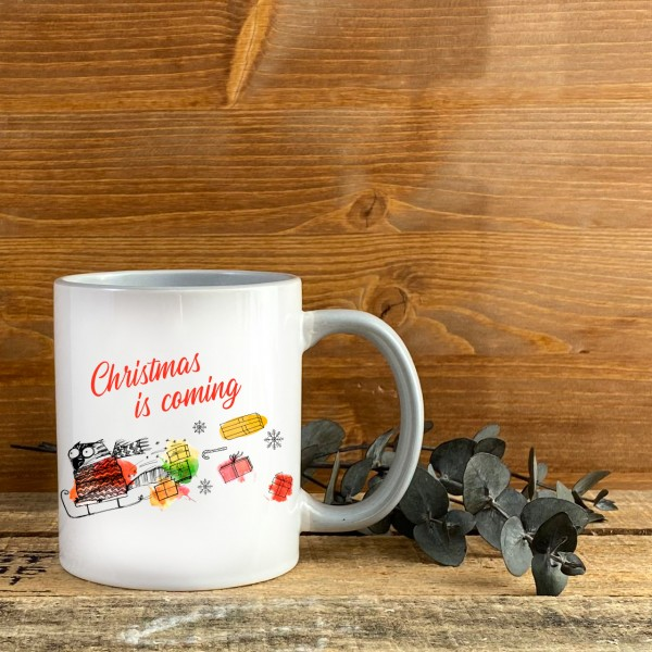 Tasse - Weihnachten - Katze - Christmas is coming