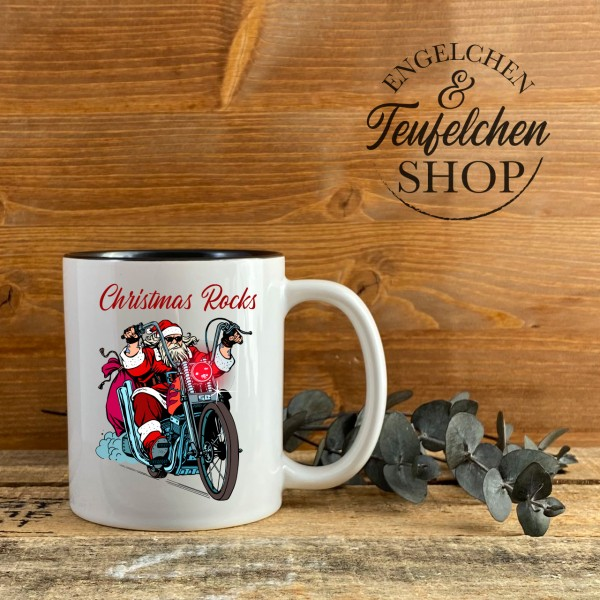 Biker Tasse - Christmas Rocks